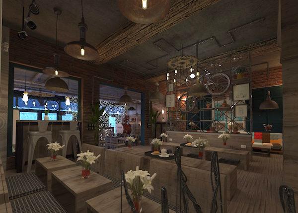 Thiết kế nội thất quán cafe đẹp 12