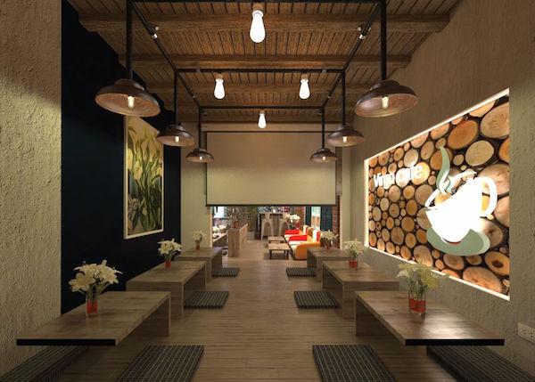 Thiết kế nội thất quán cafe đẹp 13
