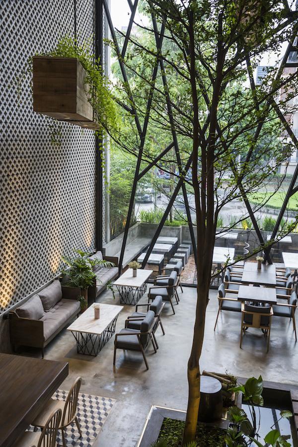 Thiết kế nội thất quán cafe đẹp 7