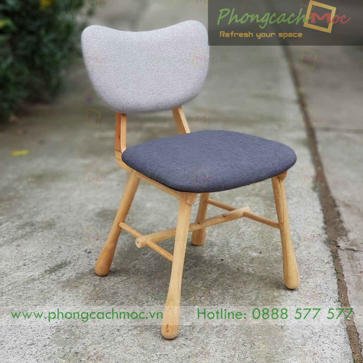 mẫu ghế cà phê khung gỗ kết hợp nệm sofa cao cấp