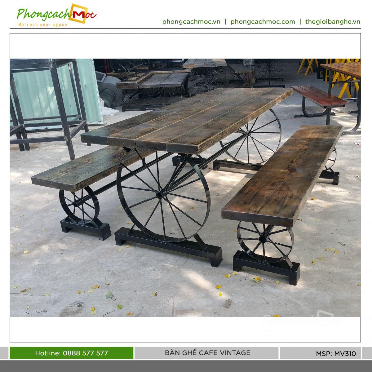 bàn ghế cafe vintage mv310