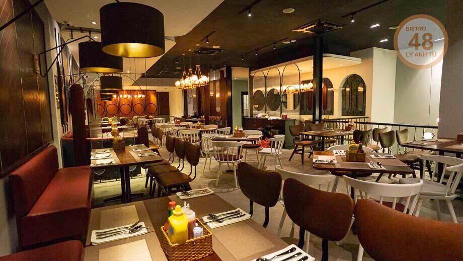 nội thất nhà hàng mang phong cách cổ điển