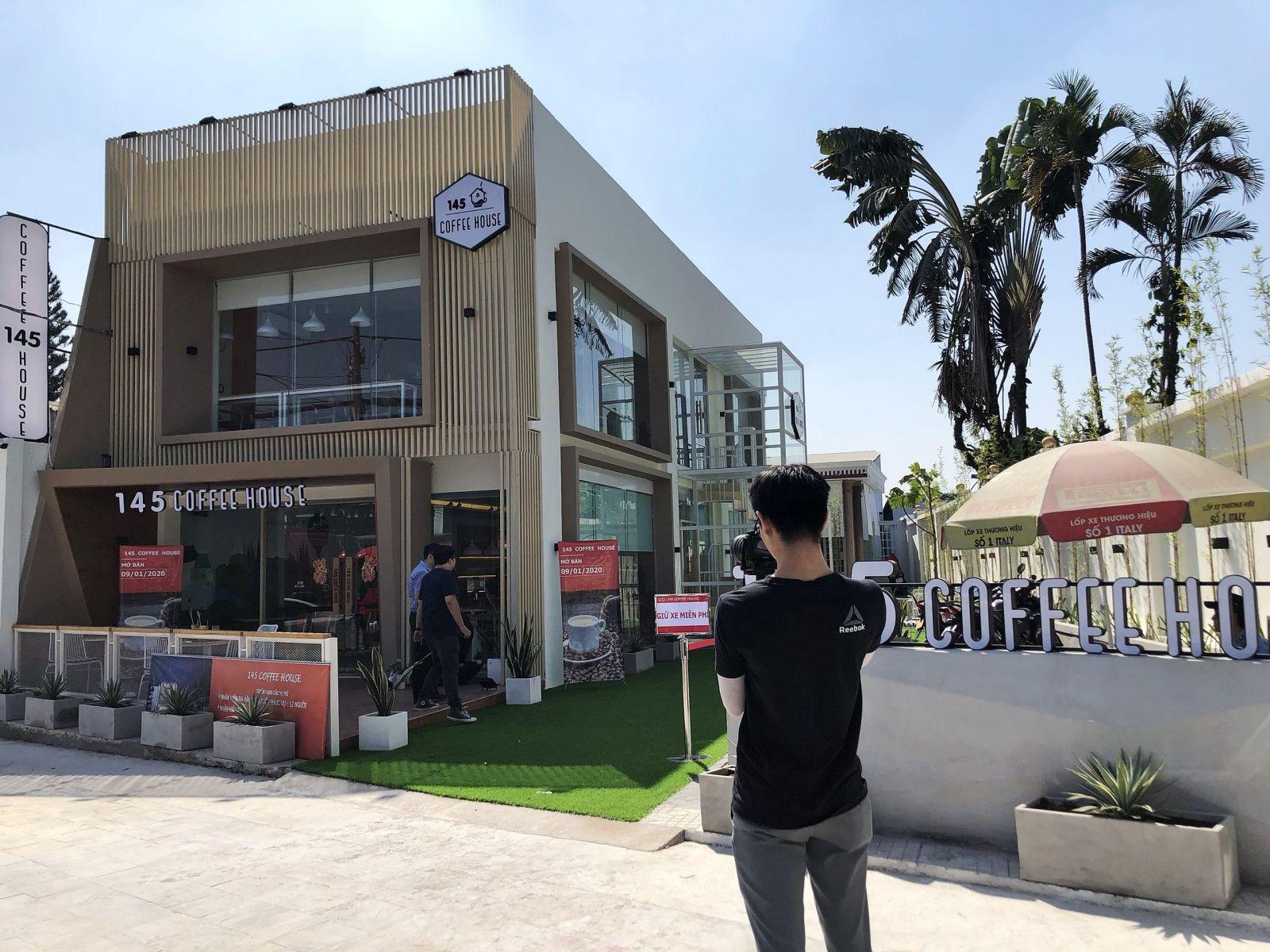 hình ảnh thực tế dự án 145 coffee house