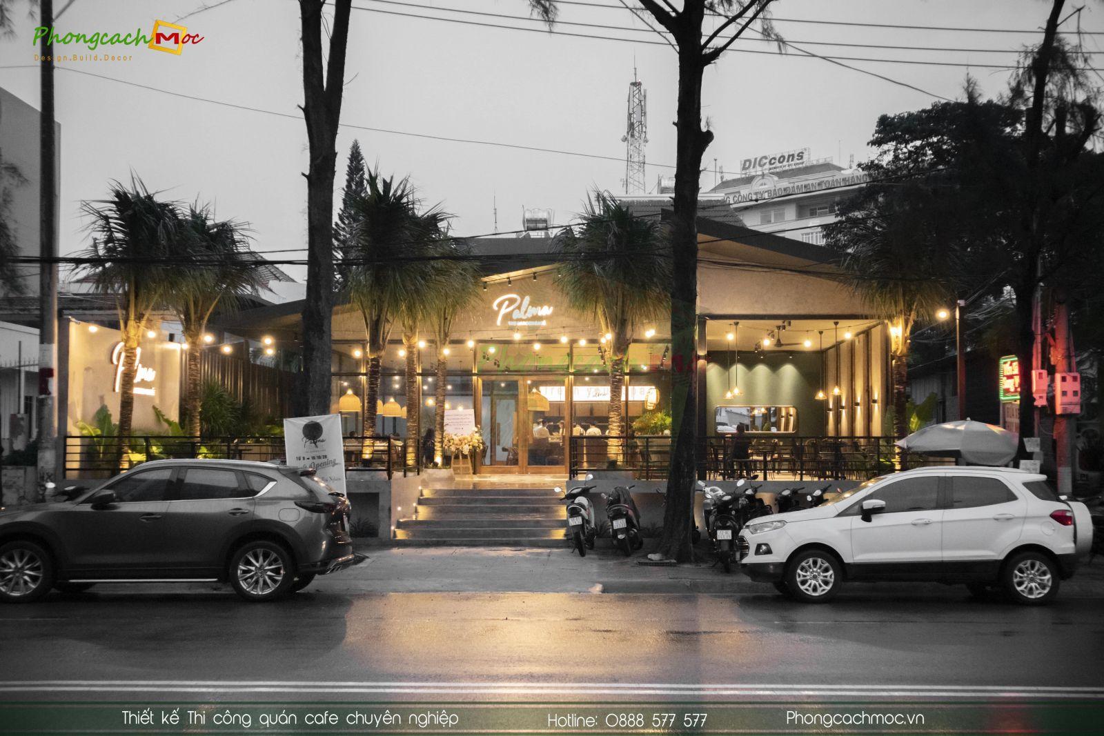 layout thiết kế quán cafe phân khu chức năng
