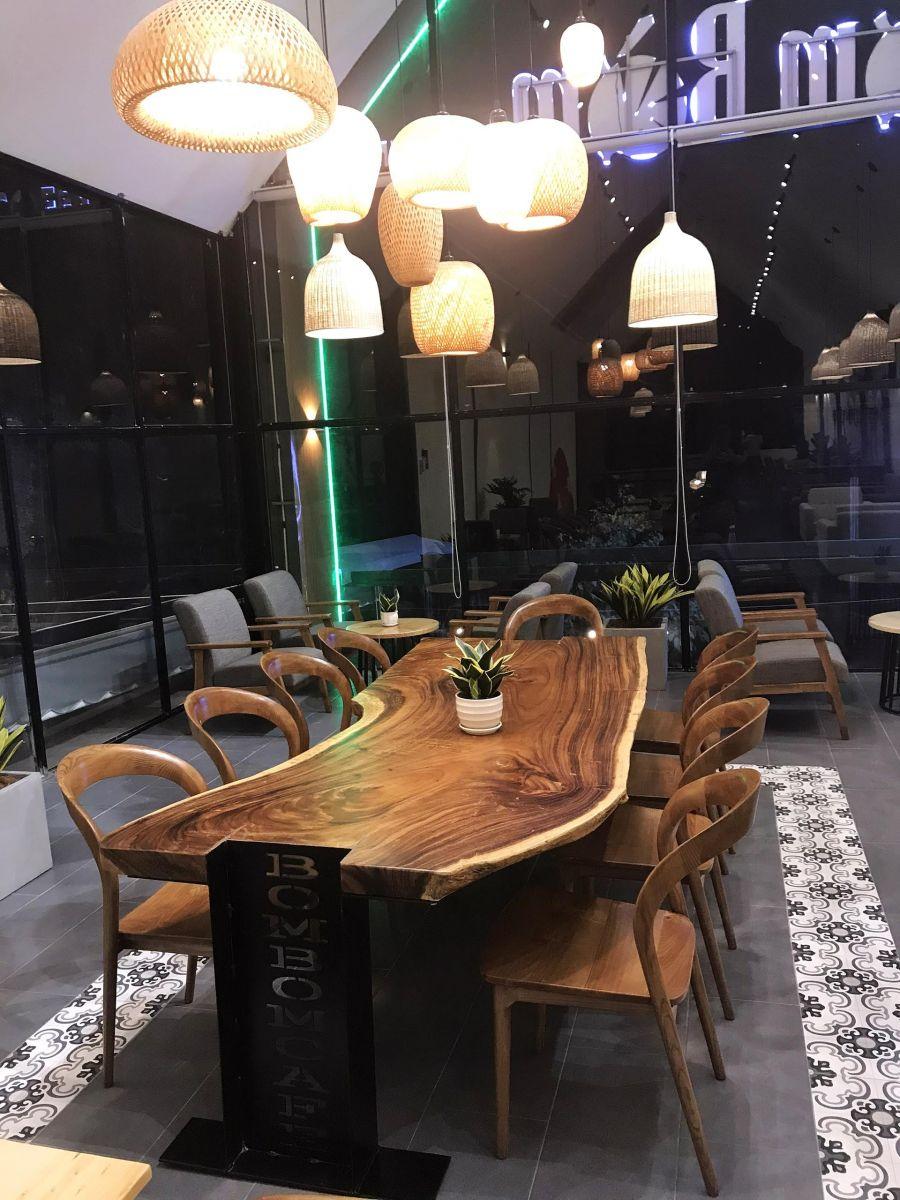 bờm bờm coffee sử dụng mẫu bàn nhóm trong nội thất quán cafe