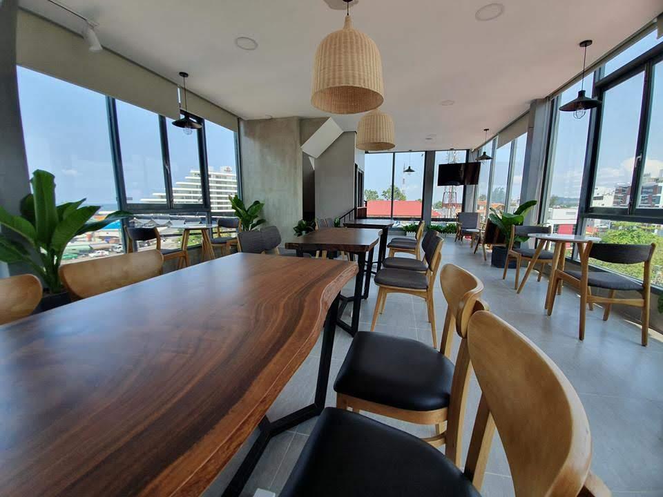 không gian nội thất quán cafe hiện đại