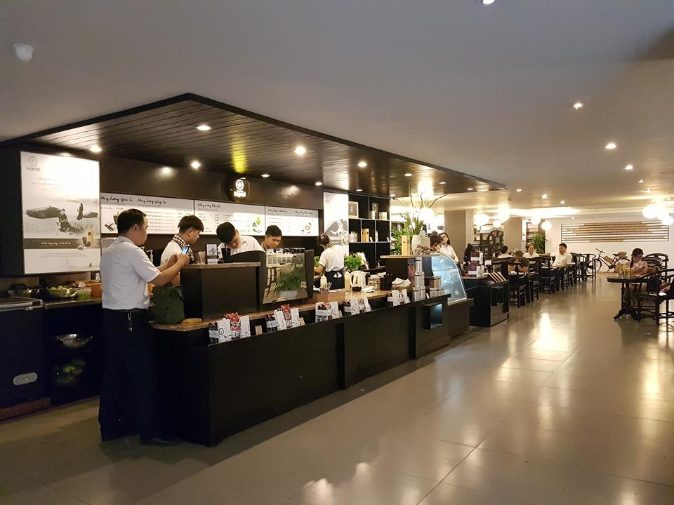không gian quán cafe trung nguyên legend tại quận hoàn kiếm hà nội
