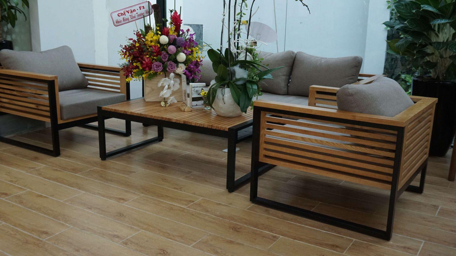 bộ bàn ghế gỗ sofa cao cấp pcm