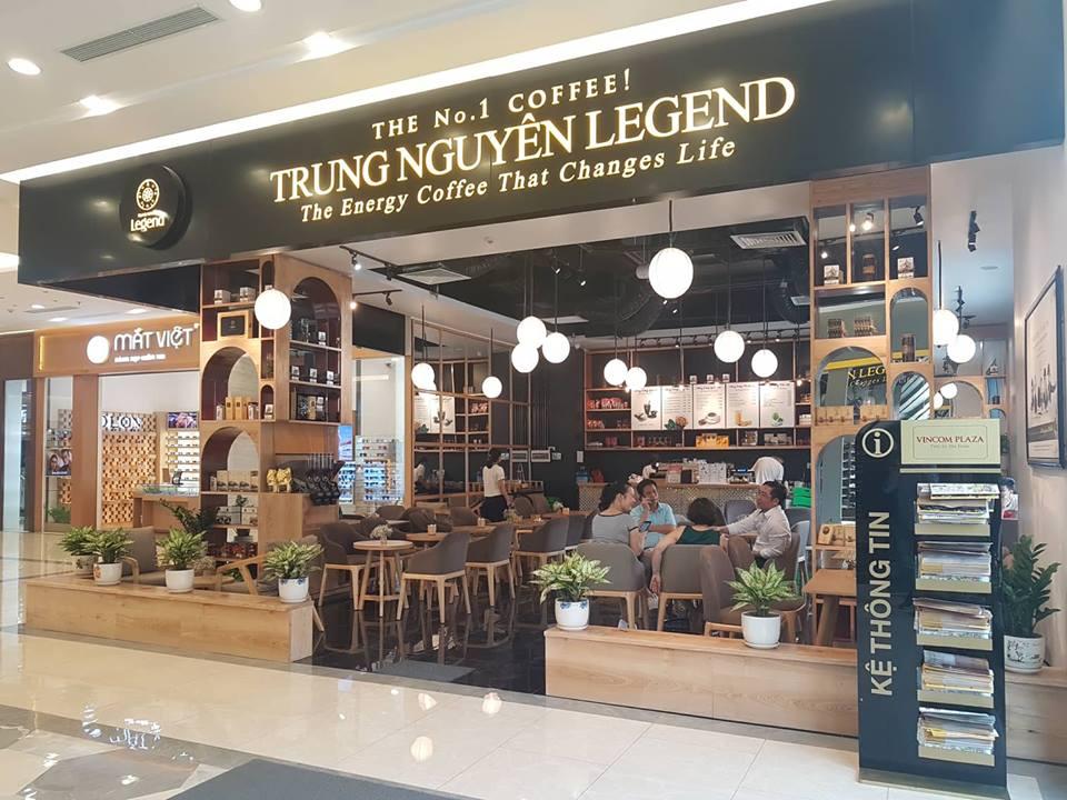 trung nguyên legend cafe tại vincom  hà nam