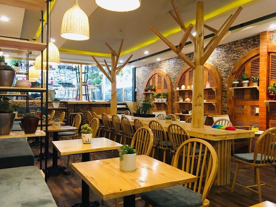 không gian ấm áp của quán cafe có diện tích 100m2