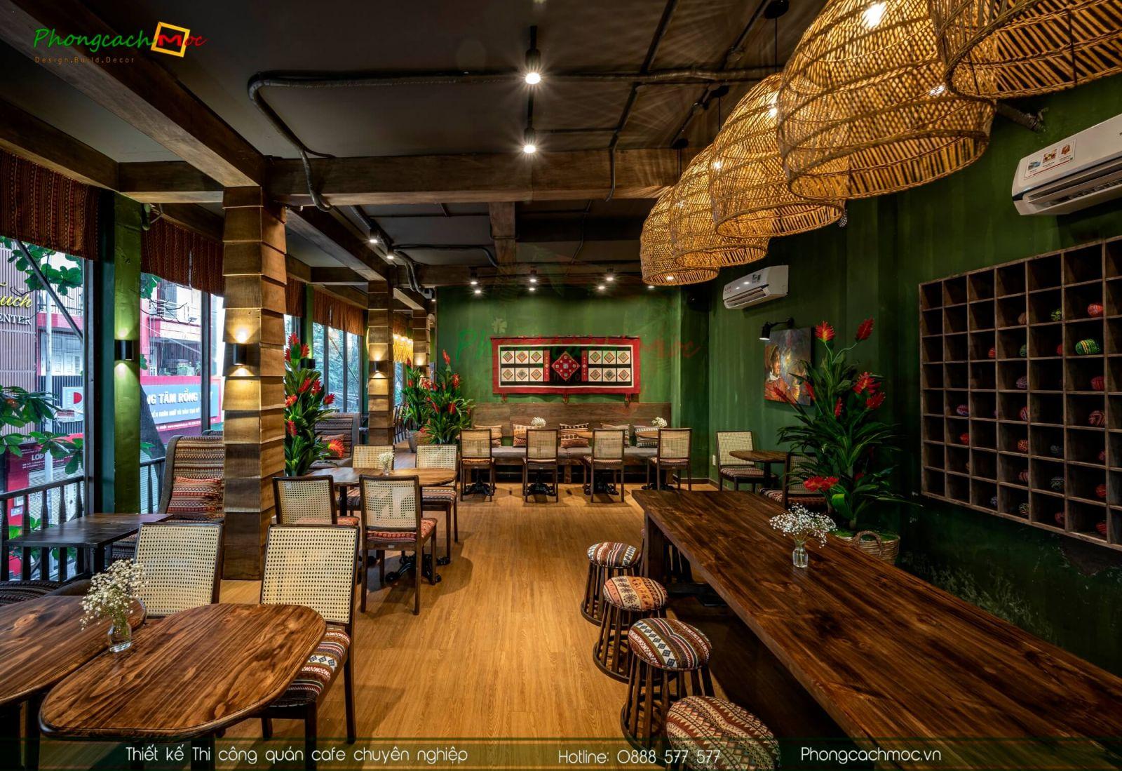 nội thất quán cafe hiện đại