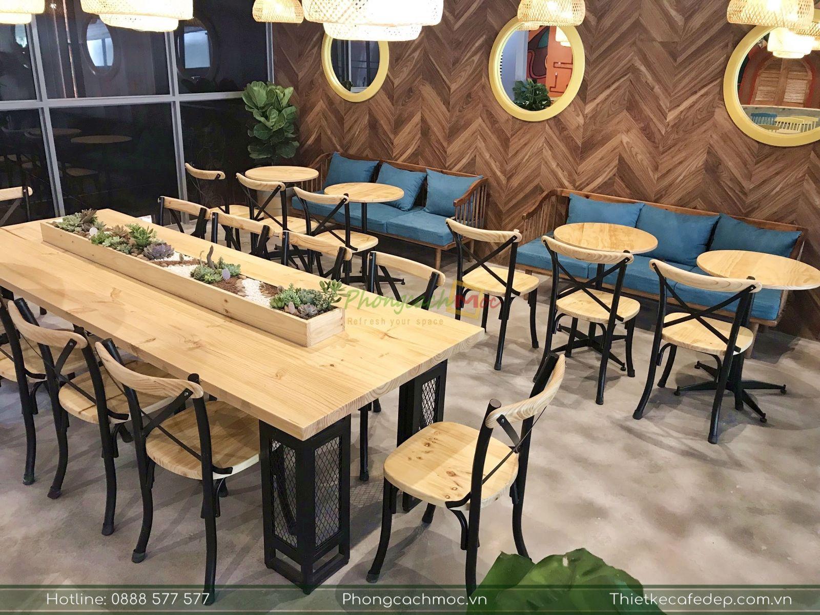 bộ bàn nhóm kết hợp ghế bistro cao cấp tại samhouse