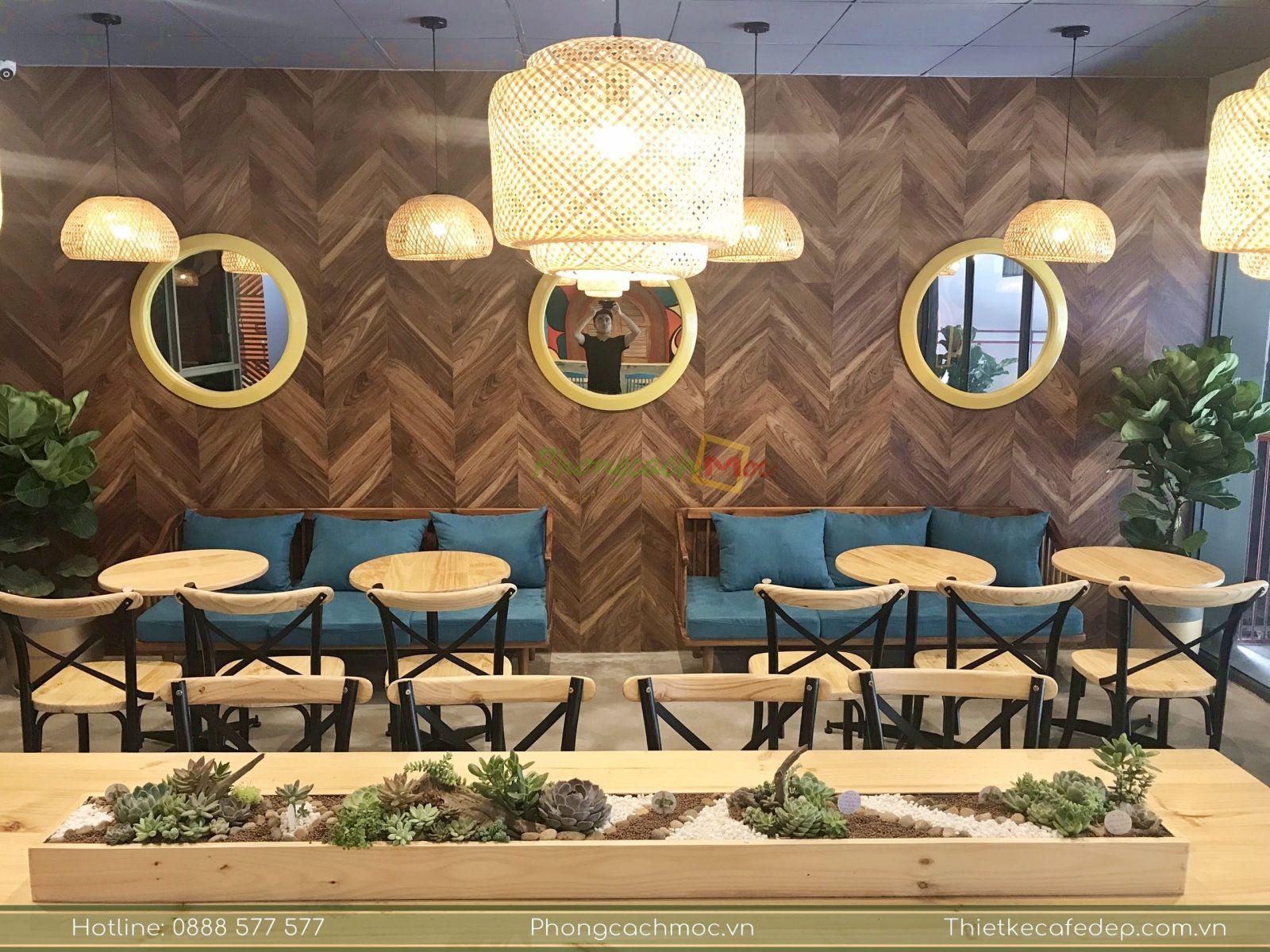 thiết kế quán samhouse coffee tại bình dương