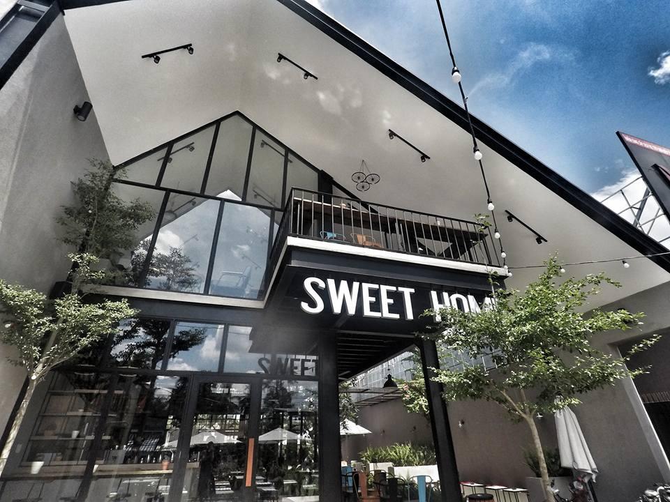quán cafe sweet home coffee sử dụng kết cấu nhà thép tiền chế