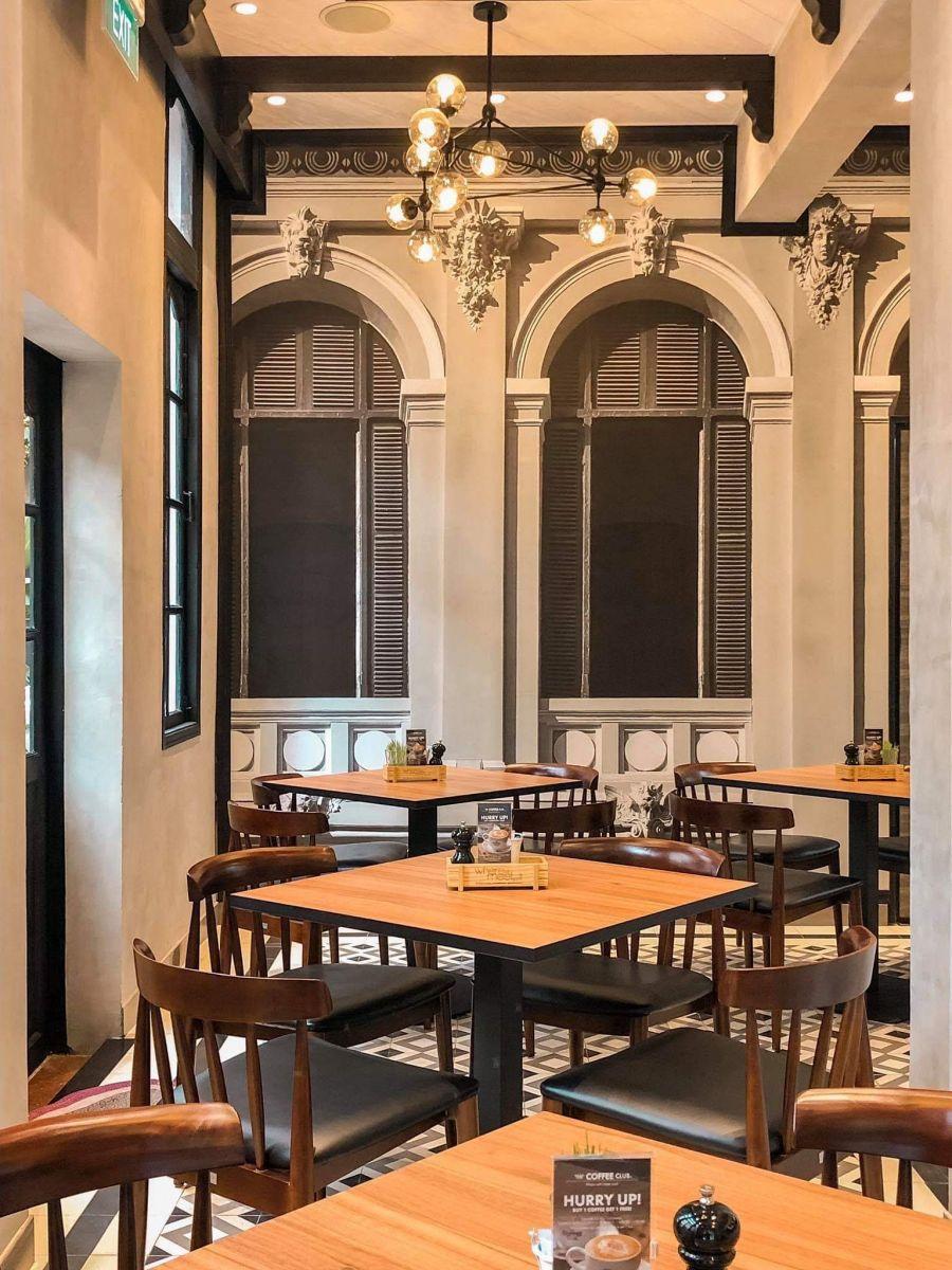 bàn ghế gỗ cao cấp nội thất quán the coffee club