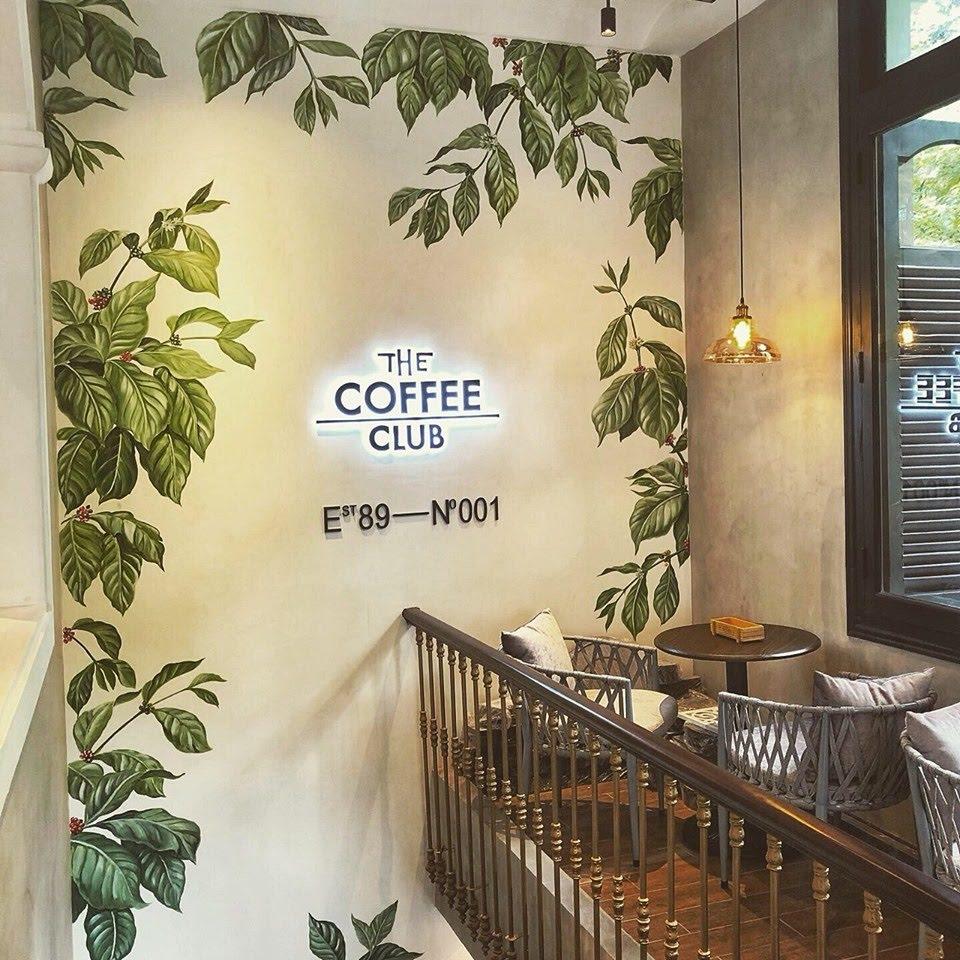 trang trí nội thất quán cafe the coffee club