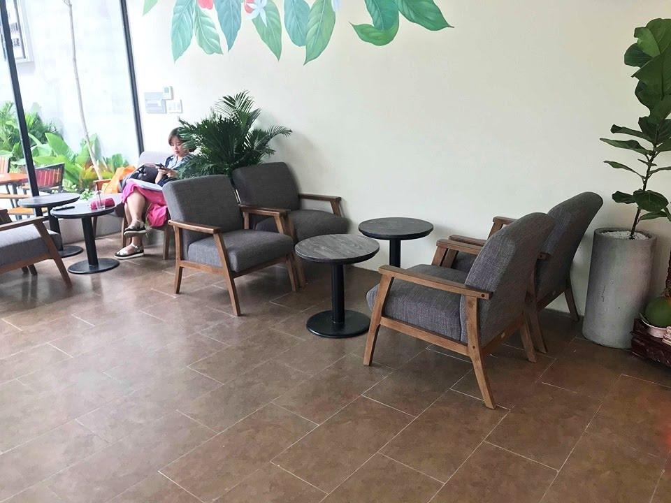 bộ bàn ghế sofa khung gỗ mf70 cho 2 người ngồi