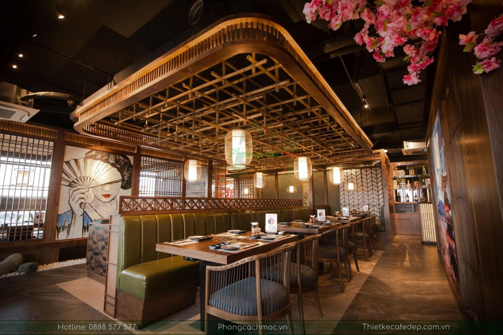 Không gian nội thất nhà hàng KokuGyu