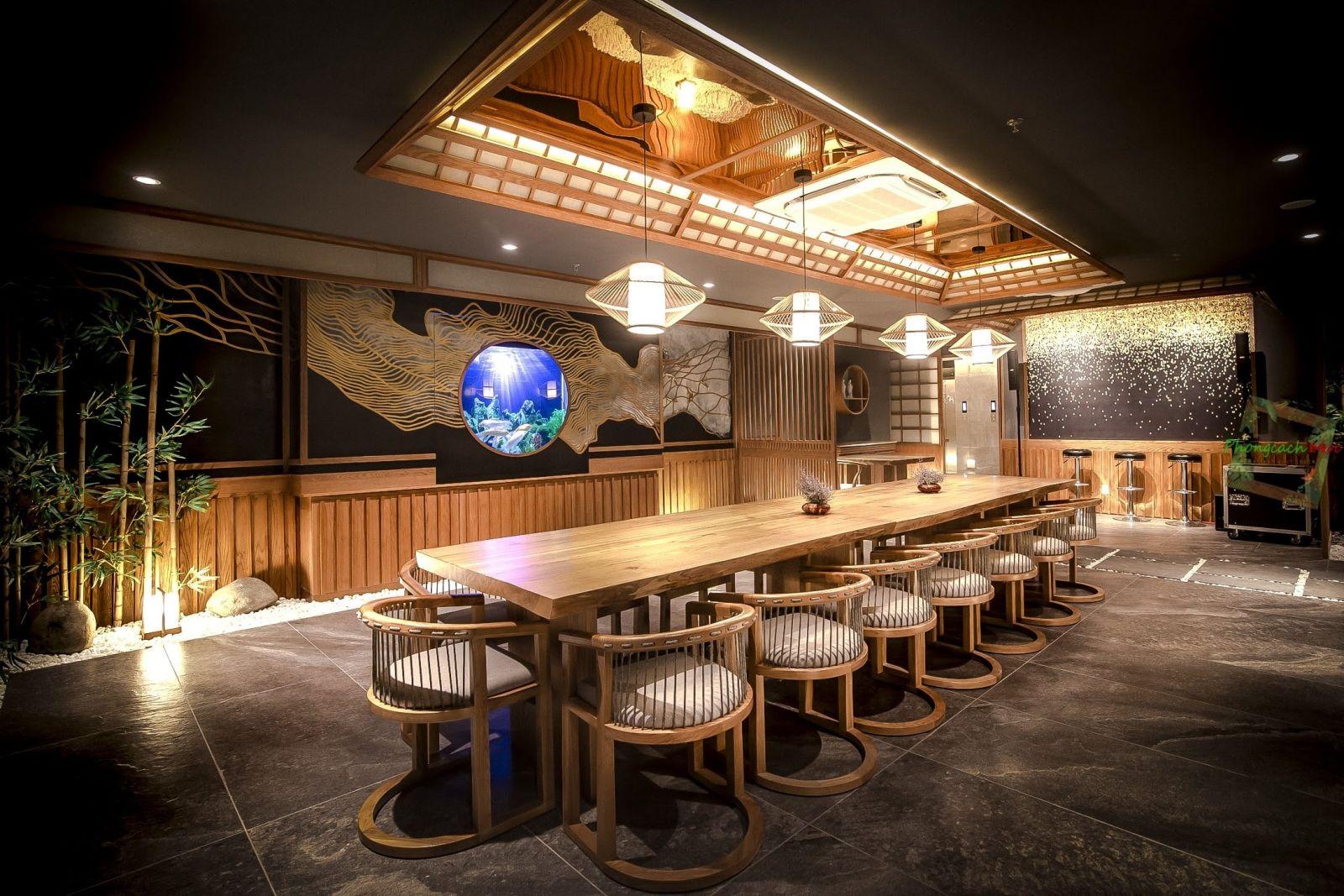 Không gian nhà hàng Sushi World VIP Room