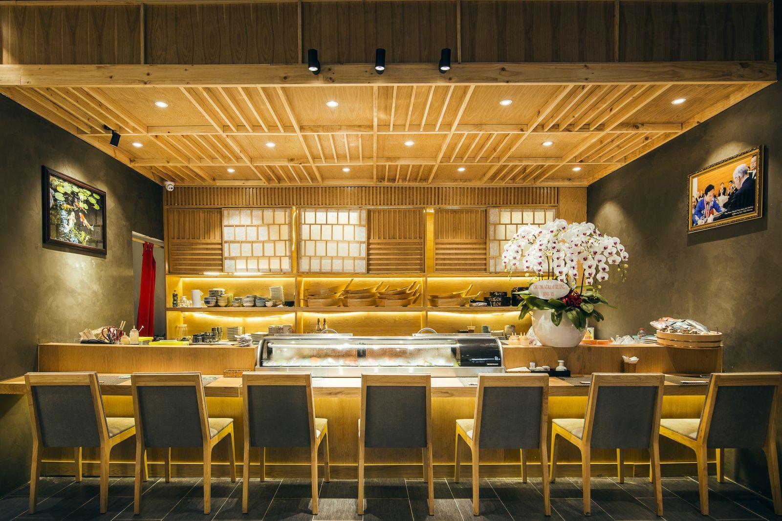 pcm cung cấp mẫu ghế bull cao cấp dành cho nhà hàng sushi world