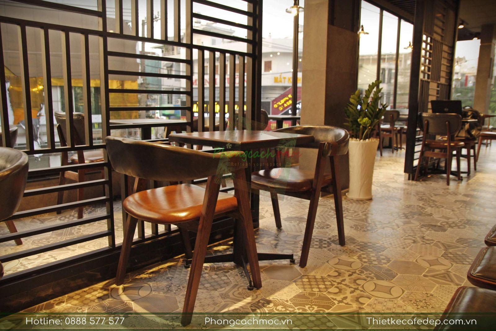 bộ bàn ghế mc157 cao cấp pcm cung cấp cho phúc long coffee