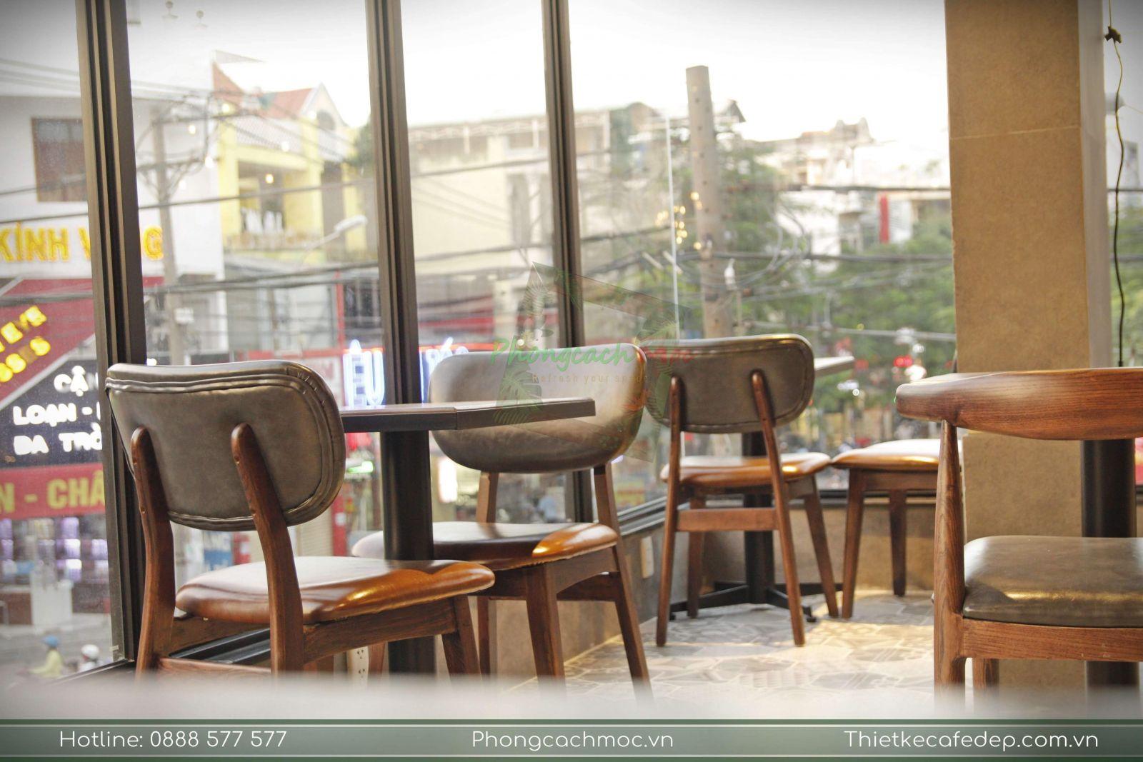 bàn ghế cafe cao cấp pcm cung cấp cho phúc long coffee