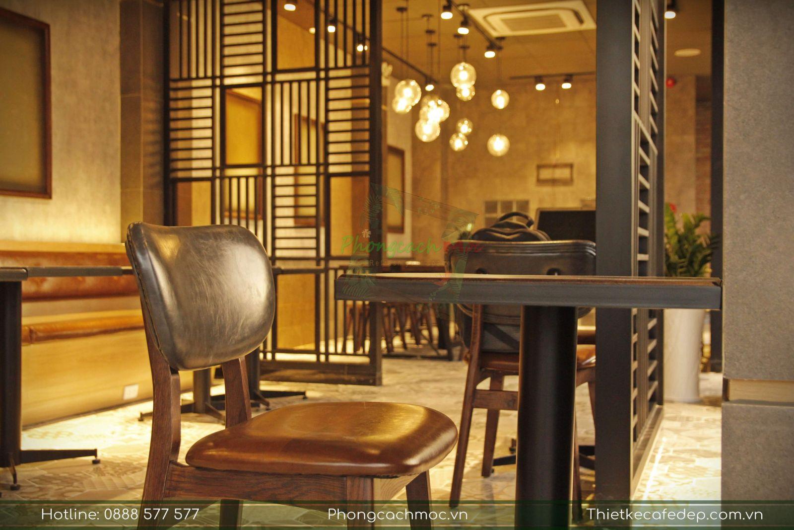 mẫu ghế sofa cafe trong nội thất phúc long tea