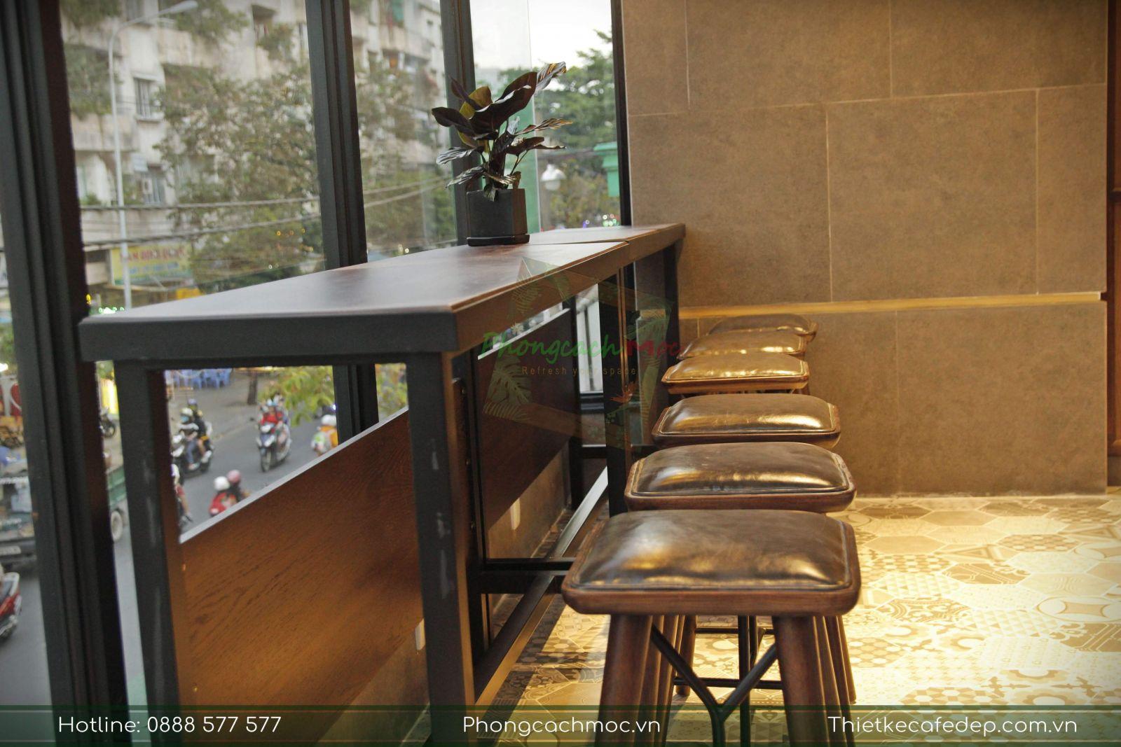 bàn ghế bar vintage nội thất quán cafe