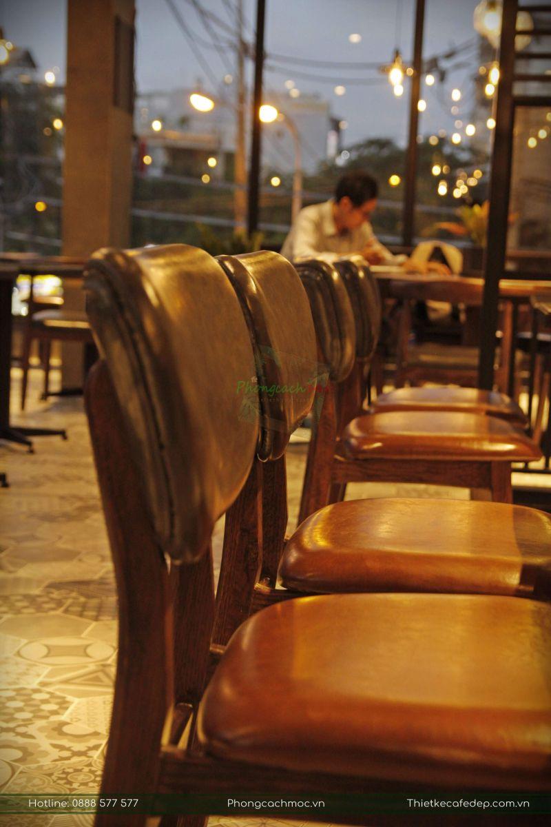 mẫu bàn ghế gỗ sofa cao cấp nội thất quán cafe
