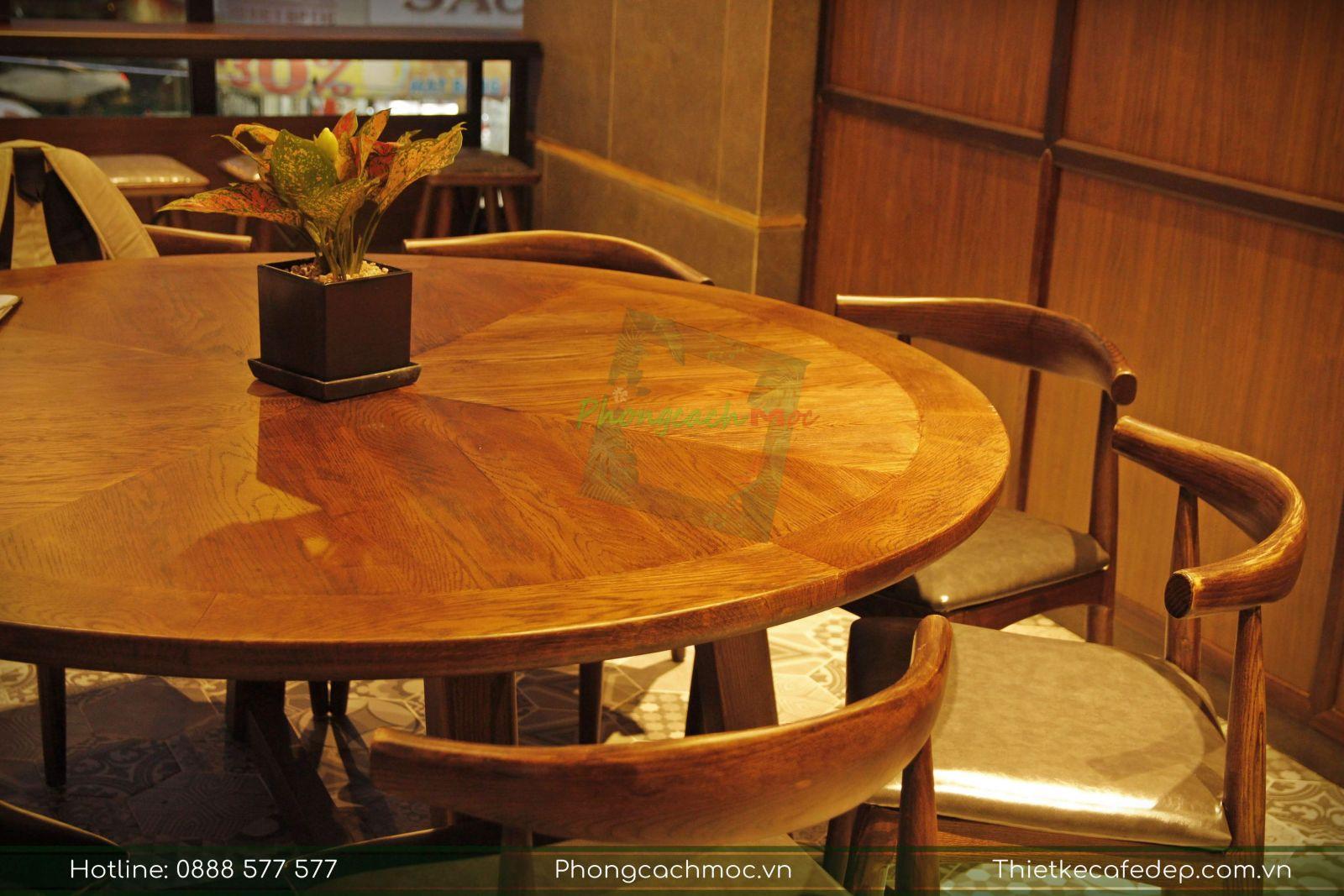 bộ bàn ghế cafe dành cho 6-8 người ngồi