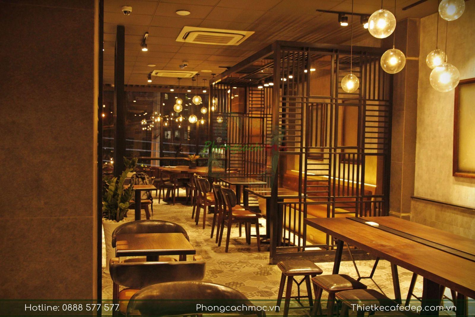 không gian nội thất phúc long coffee - tân phú