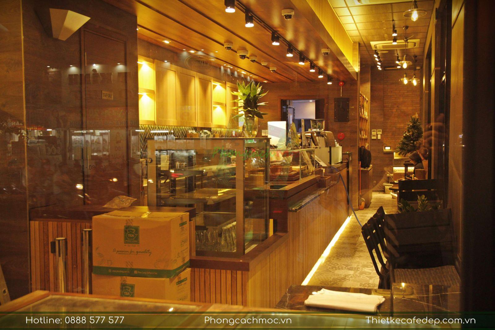 thiết kế quầy bar pha chế quán cafe