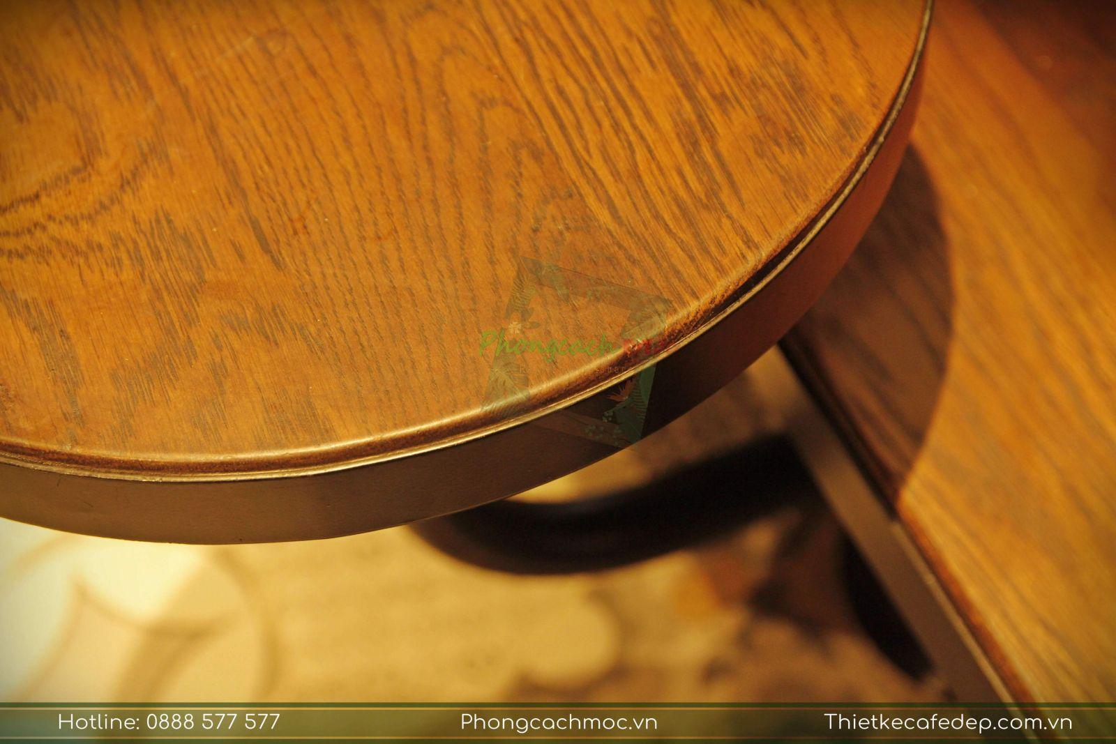 chi tiết bàn ghế bar vintage quán cafe