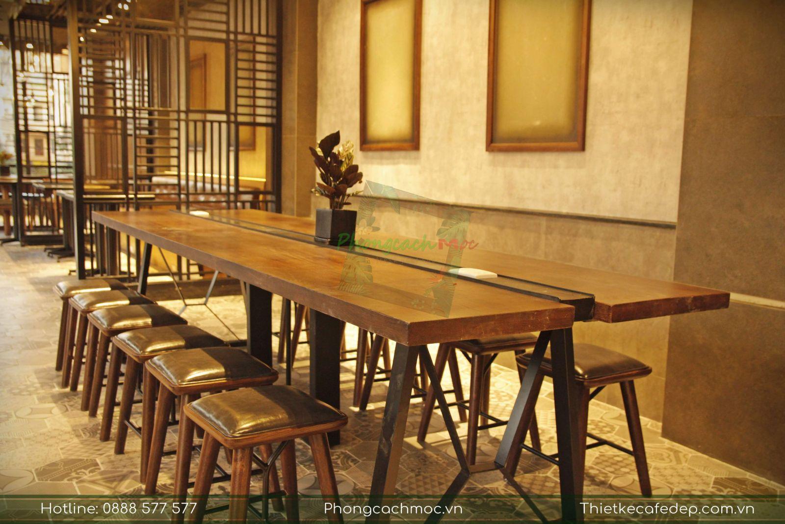 bộ bàn nhóm vintage quán cà phê