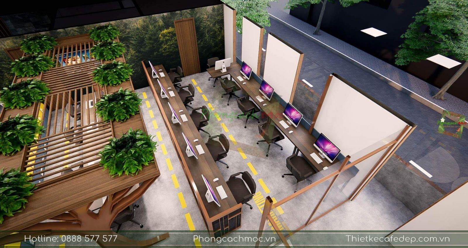 thiết kế phân khu phòng ban văn phòng pcm tại quận 2