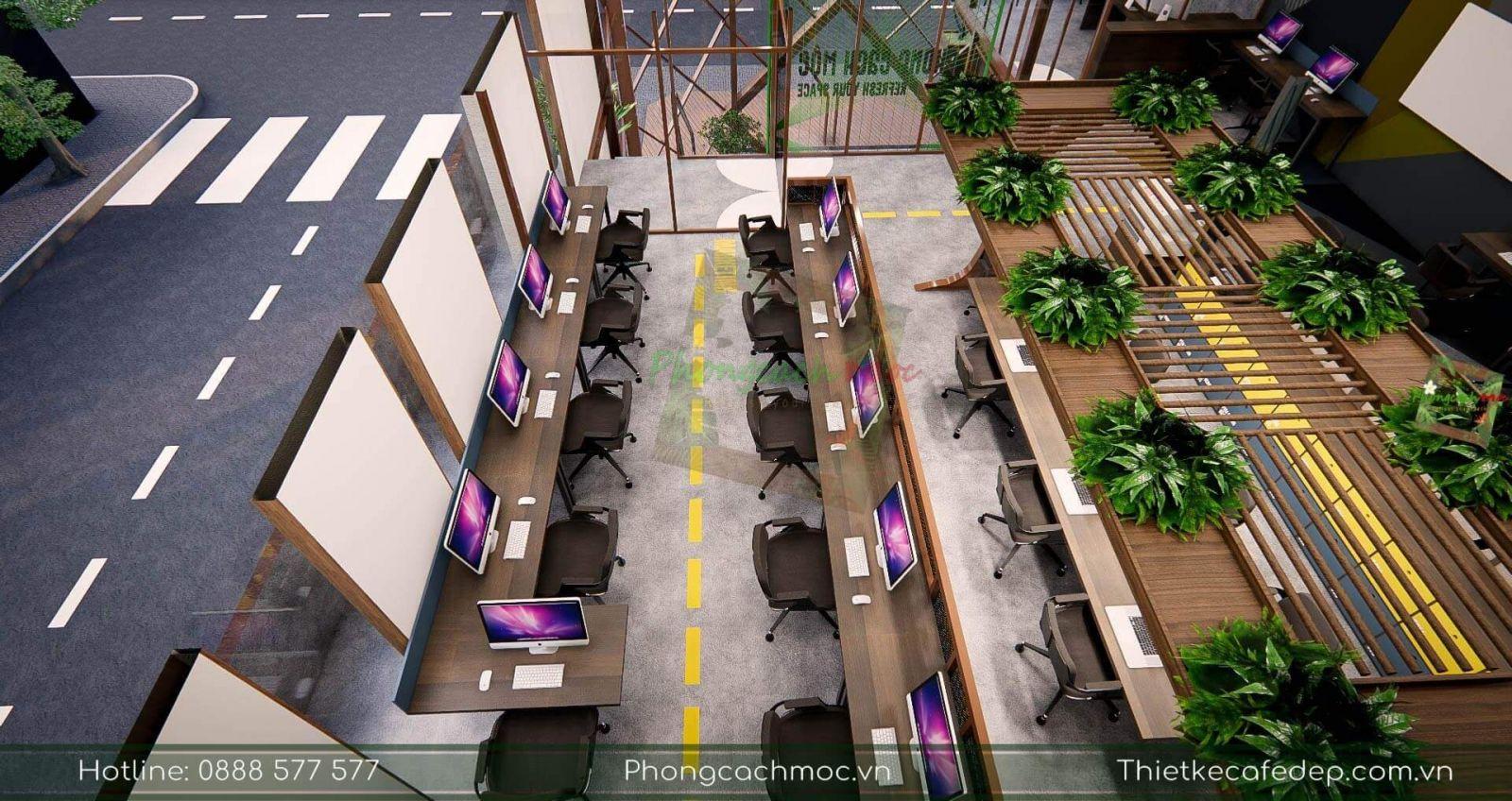 thiết kế không gian nội thất văn phòng kết cấu nhà thép tiền chế