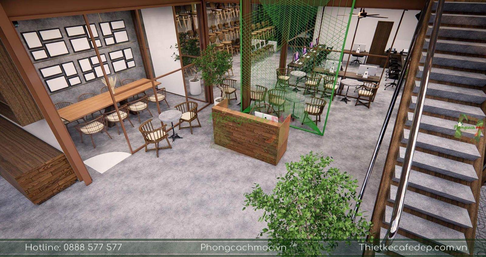thiết kế phân khu chức năng tầng 1 pcm workshop