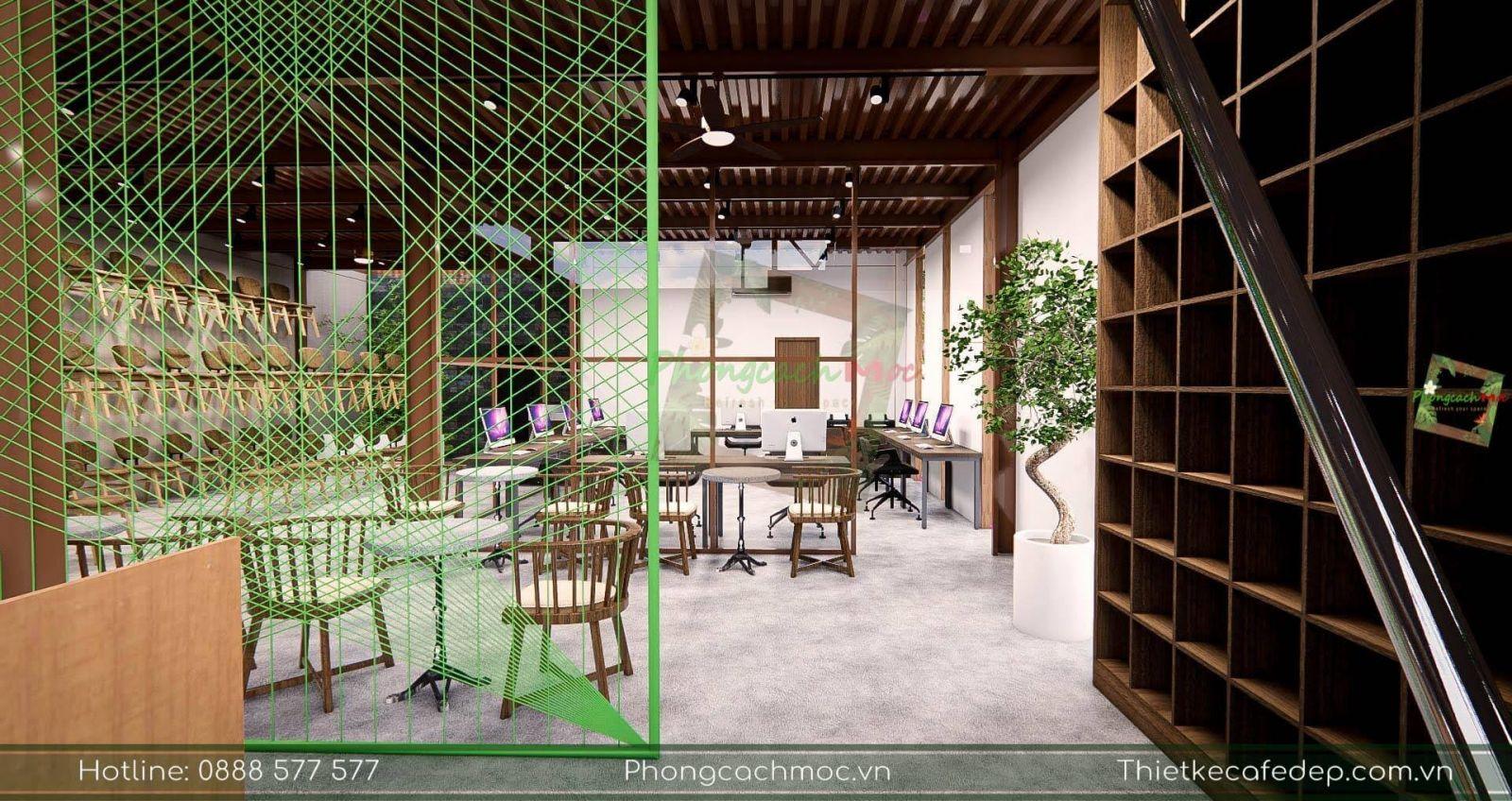 thiết kế văn phòng với kết cấu nhà thép tiền chế