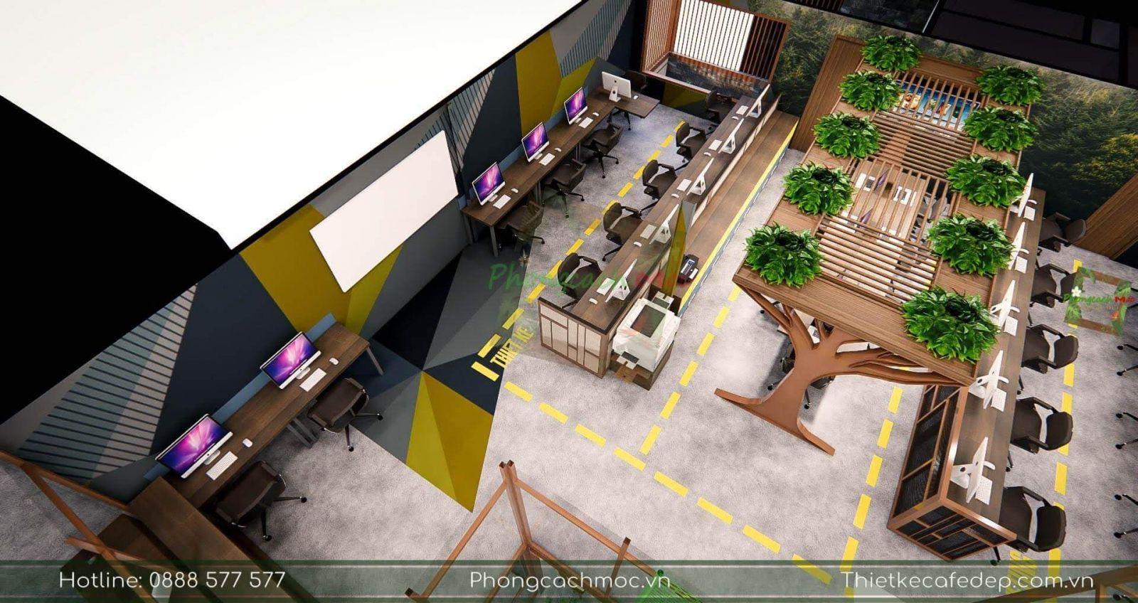 thiết kế bố trí nội thất dự án pcm workshop