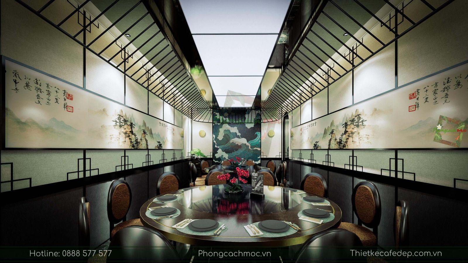 thiết kế nhà hàng trung hoa - nội thất phòng vip 2 - 2