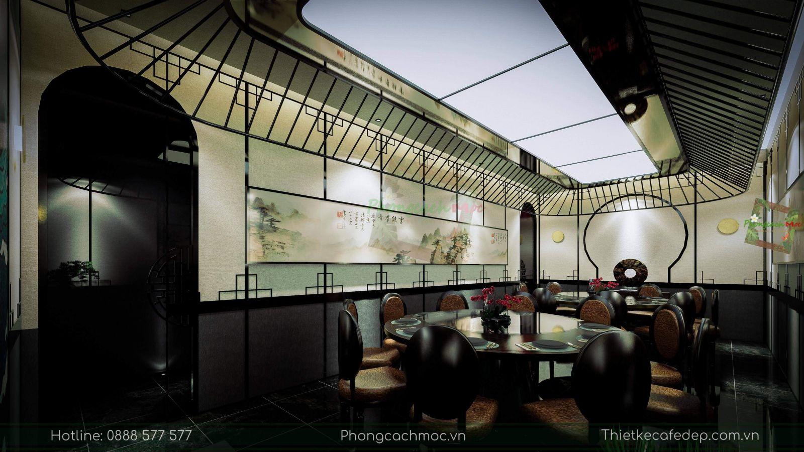 thiết kế nhà hàng trung hoa - nội thất phòng vip 2 - 3