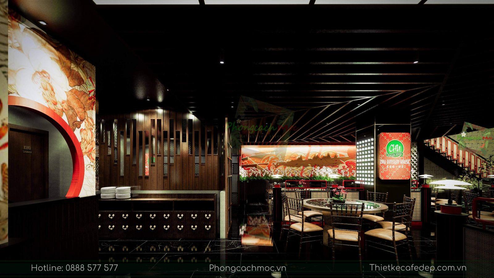 thiết kế nhà hàng trung hoa - chu dimsum house - 5