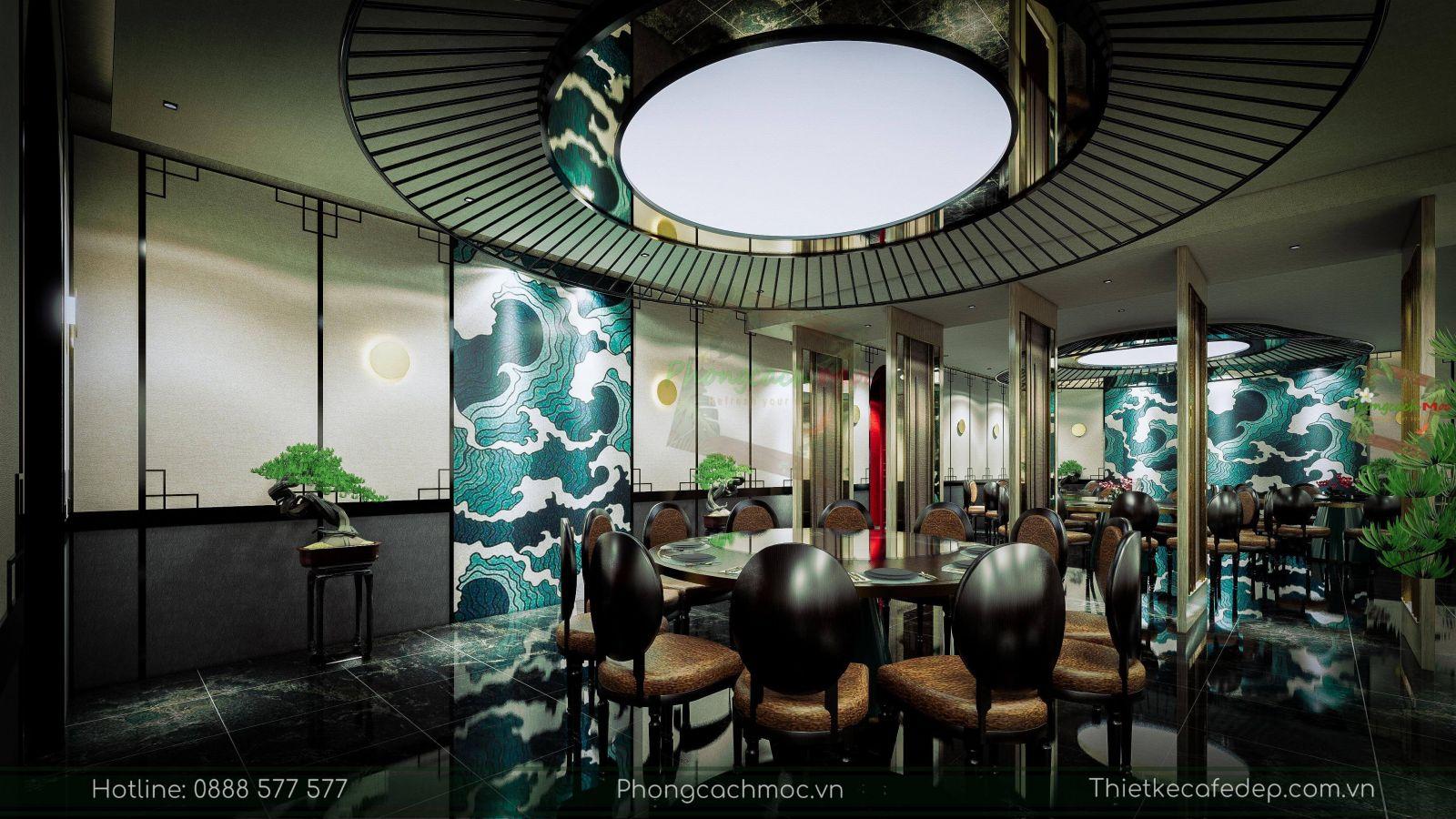thiết kế nhà hàng trung hoa - nội thất phòng vip 1 - 4