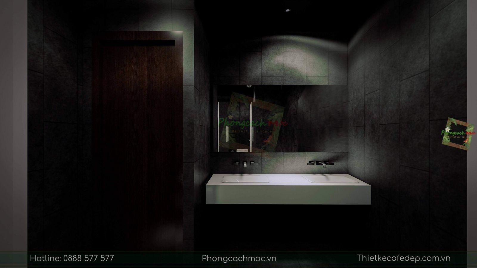 thiết kế nhà hàng trung hoa - không gian nhà vệ sinh - 4