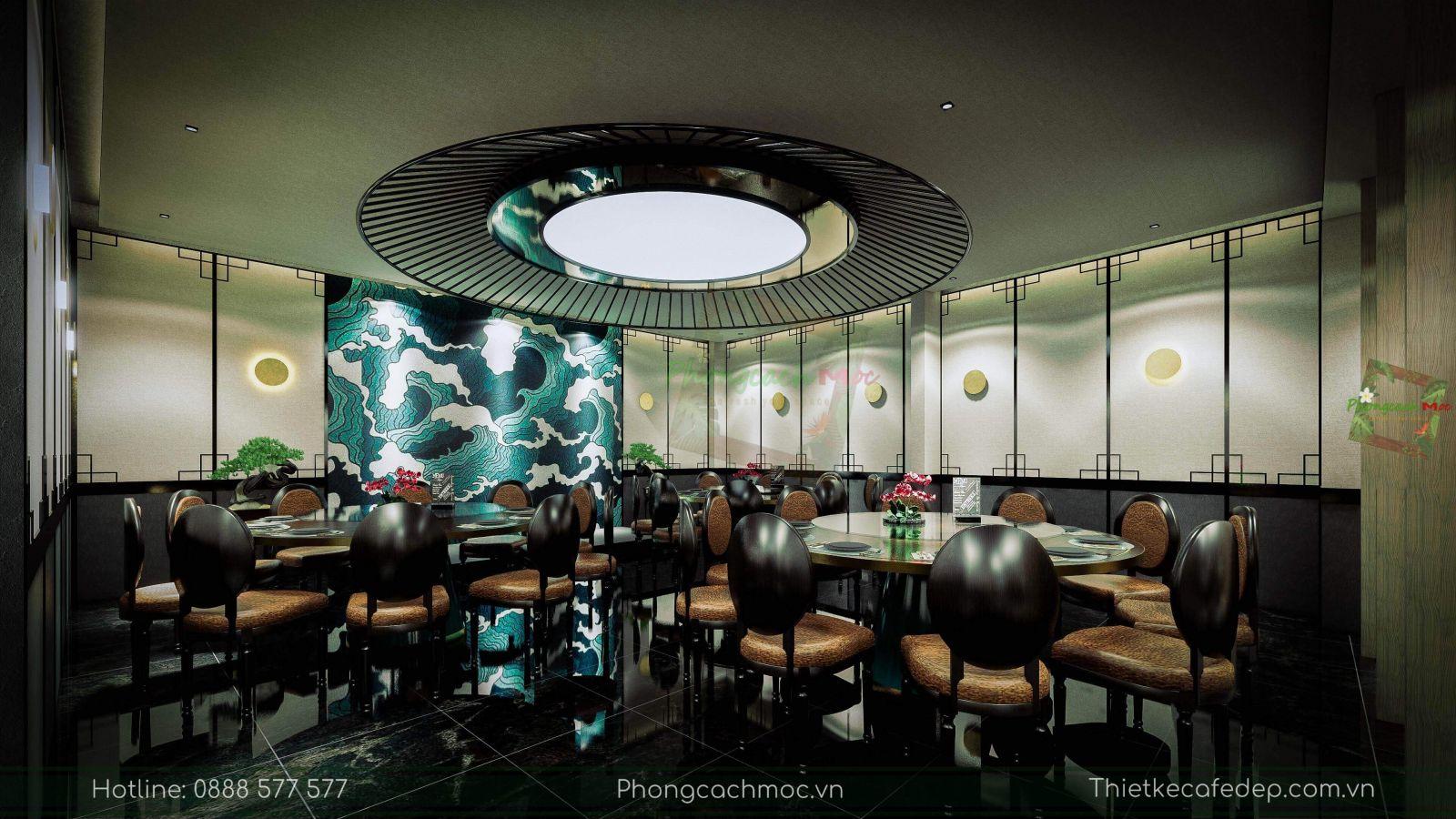 thiết kế nhà hàng trung hoa - nội thất phòng vip 1 - 2
