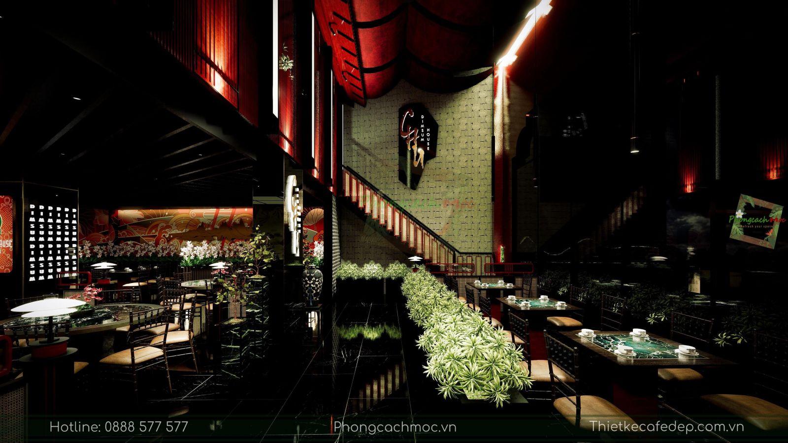 thiết kế nhà hàng trung hoa - chu dimsum house - 3