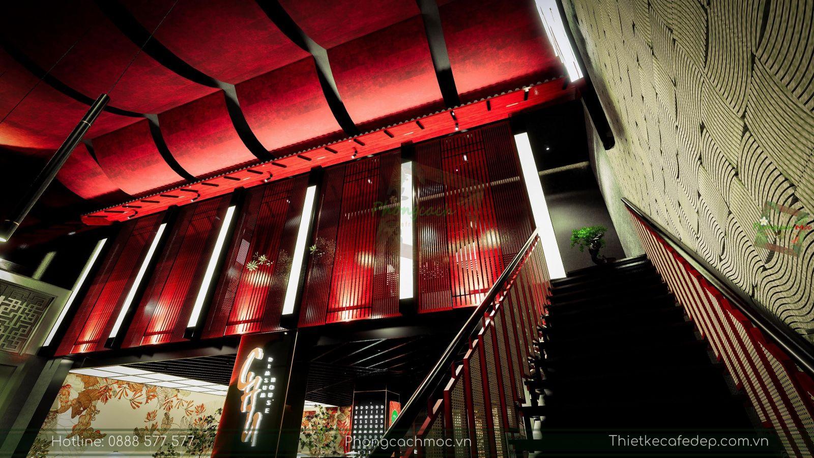 thiết kế nhà hàng trung hoa - nét văn hóa trung hoa hiện đại