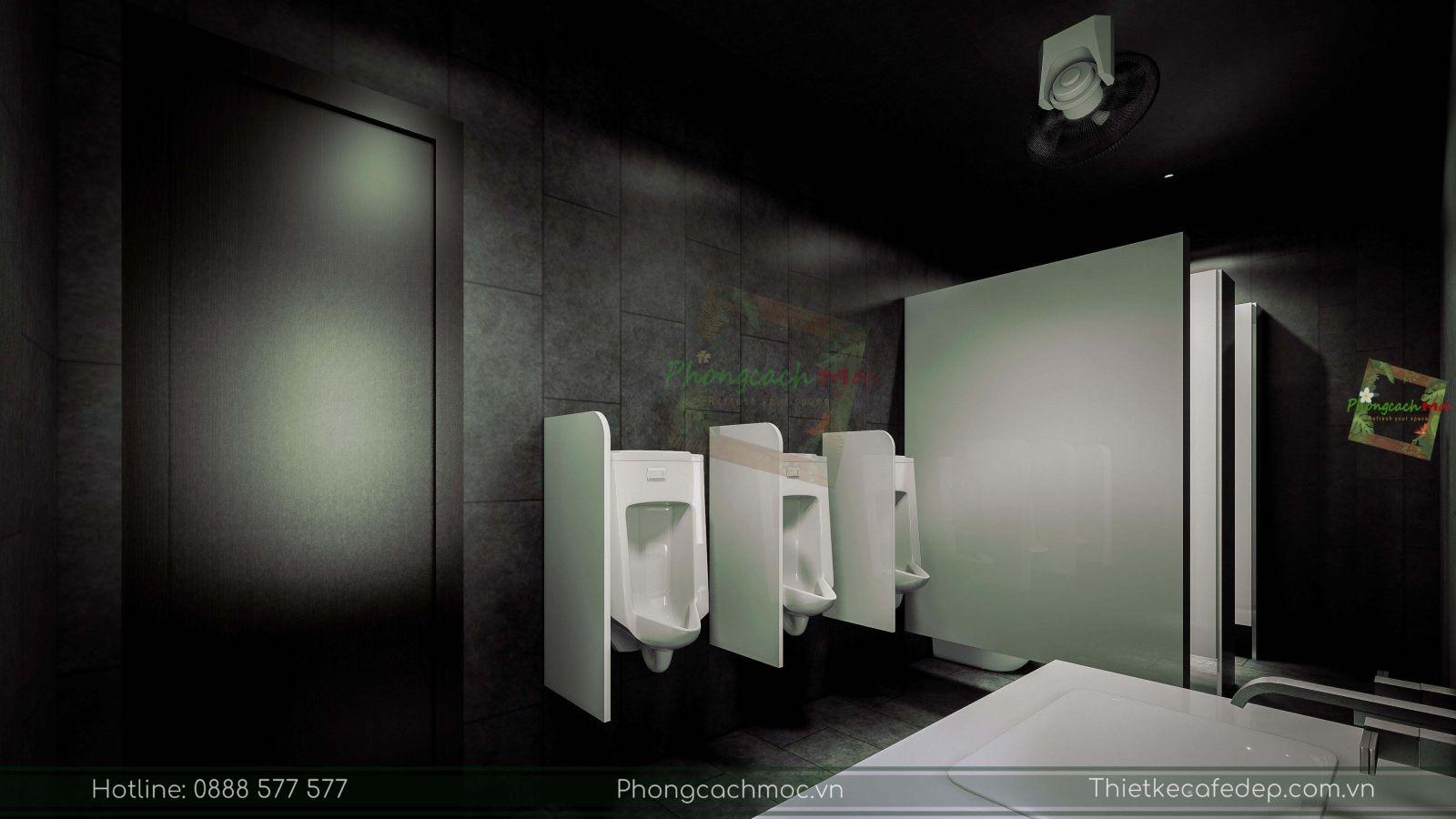 thiết kế nhà hàng trung hoa - khu vực vệ sinh - 2