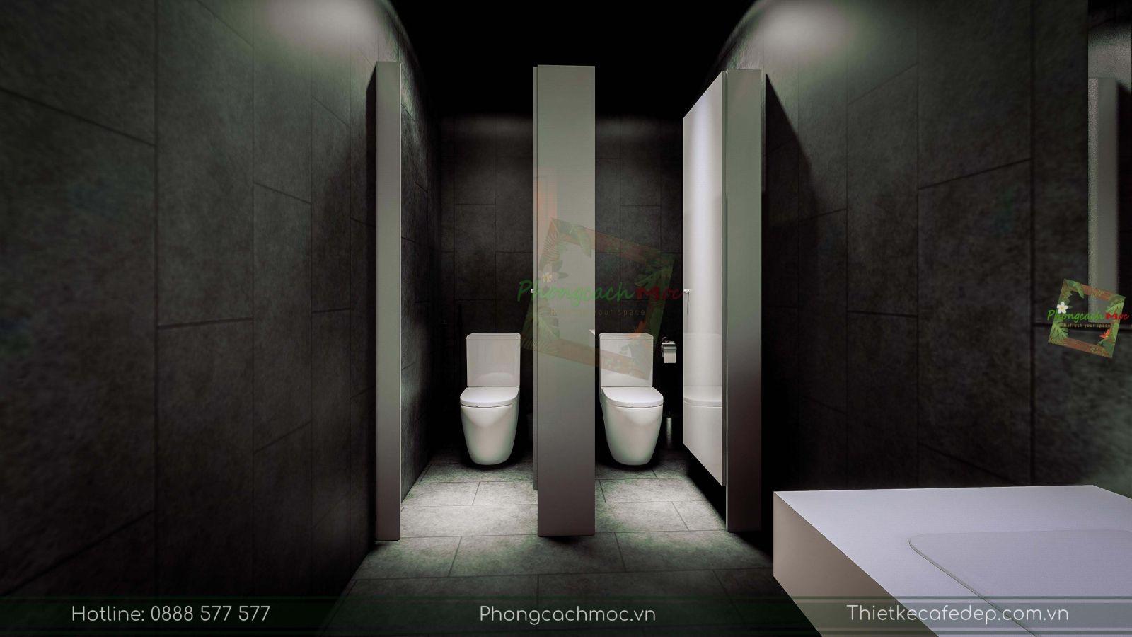 thiết kế nhà hàng trung hoa - khu vực vệ sinh - 3
