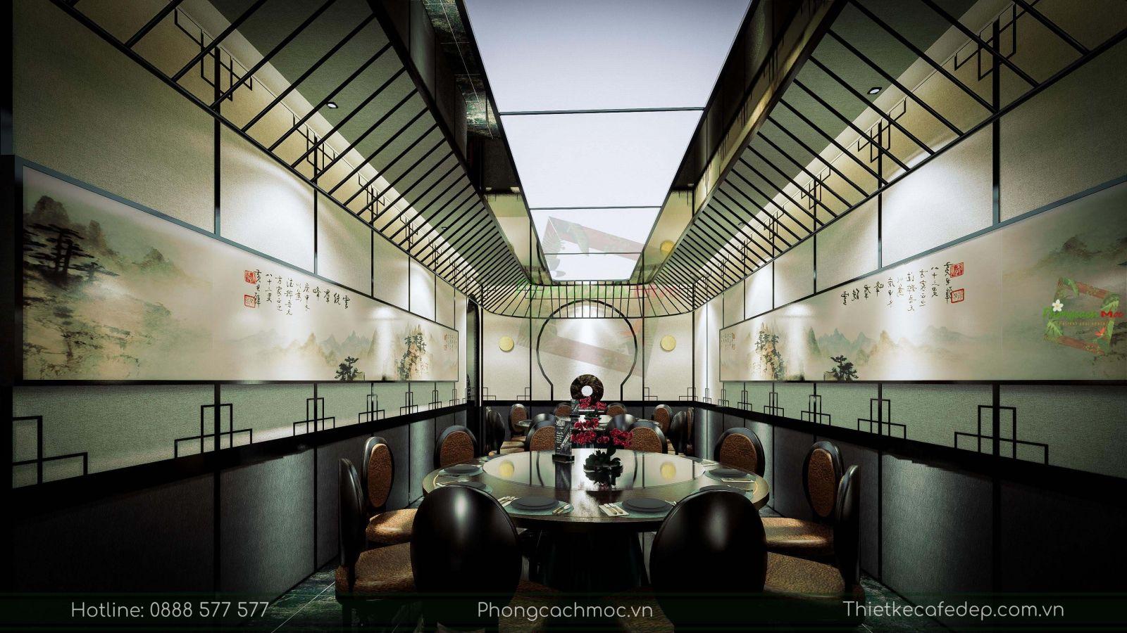 thiết kế nhà hàng trung hoa - nội thất phòng vip 2 - 4